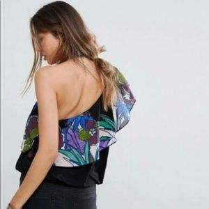 Free People Tops - Free People Annka one Shoulder Bubbled Top